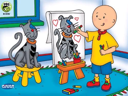 Caillou es un niño de casi 4 años, y en los dibujos vemos el mundo a ...